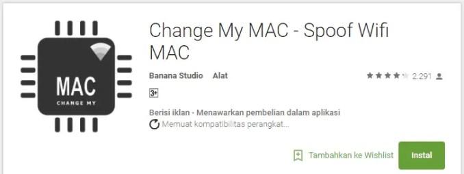 Mengganti MAC Address Android Dengan Change My Mac - Spoff Wifi Mac