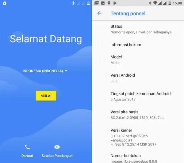 Ganti ROM China Mi4C Kamu Ke Android Oreo Bahasa Indonesia