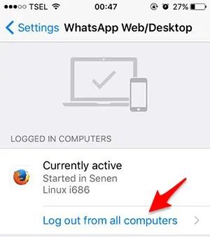 Periksa WhatsApp Web/Dekstop (iPhone)