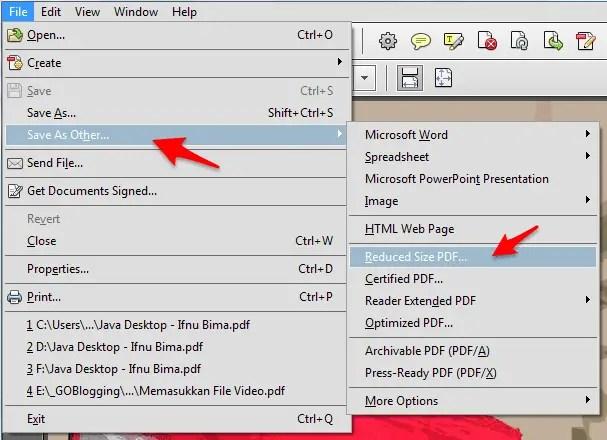 cara memperkecil ukuran file pdf dengan adobe acrobat reader