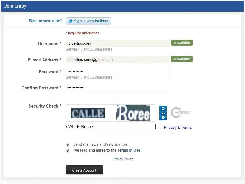 cara registrasi emby