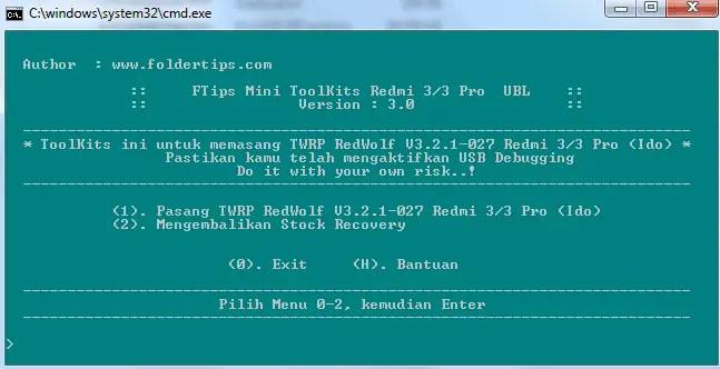 Cara Pasang TWRP RedWolf Redmi 3 / 3 Pro (Ido) Support OTA