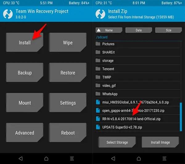 Cara Update Redmi 3S/Prime/3X (Land) Ke ROM Resurrection Remix v5.8.4