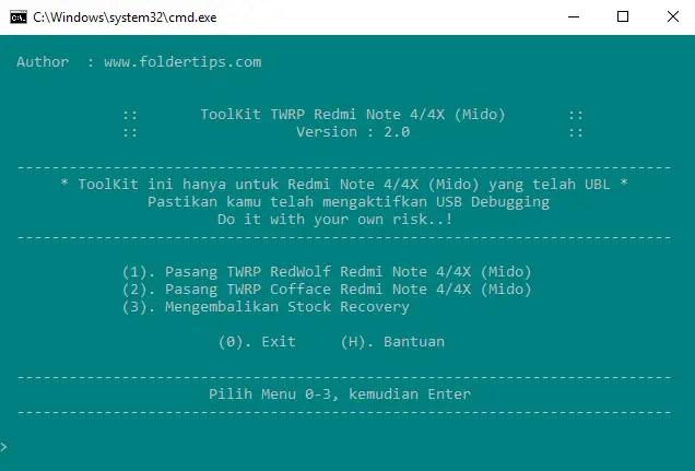 Cara Pasang TWRP RedWolf Redmi Note 4X Mido