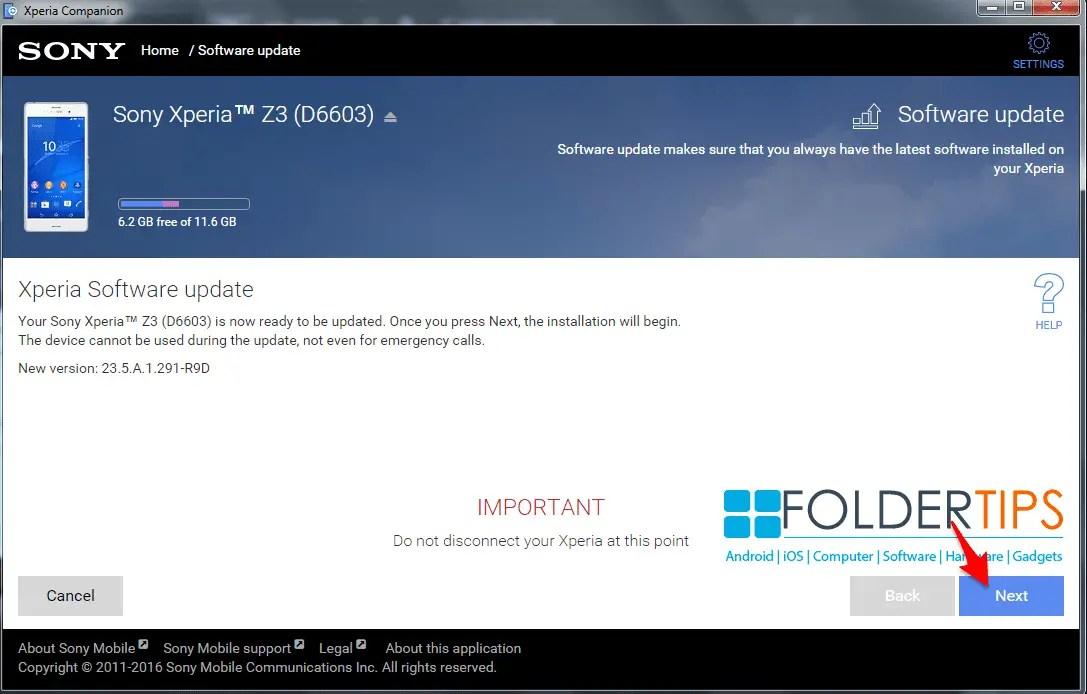 Cara Update Firmware Sony Xperia via Xperia Companion [Semua