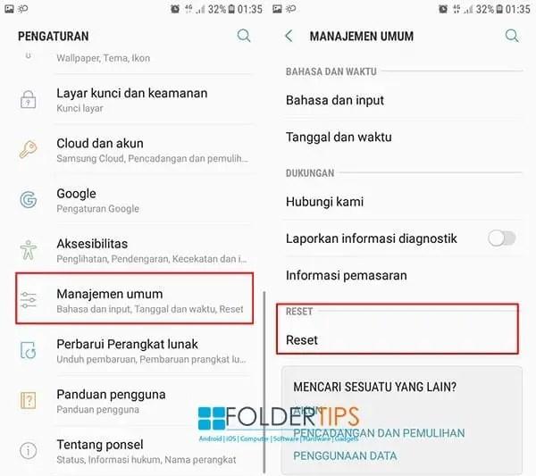 Cara Hard Reset / Factory Reset / Masuk Recovery HP Samsung (Semua Tipe)