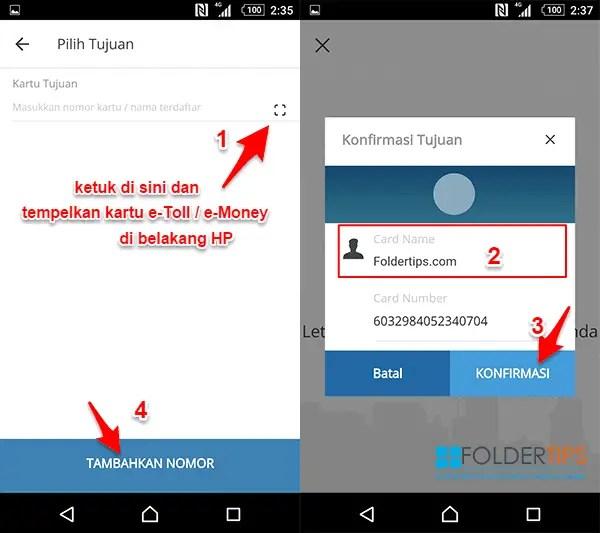 Cara Isi Ulang Mandiri e-Money / e-Toll Card Via Mandiri Online Berfitur NFC