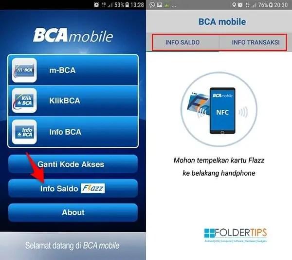 Cara Cek Saldo Flazz BCA via HP Android Berfitur NFC
