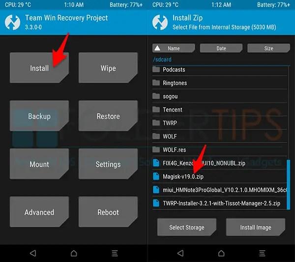 Cara Pasang TWRP dan ROOT Xiaomi Mi A1 Android Pie 9