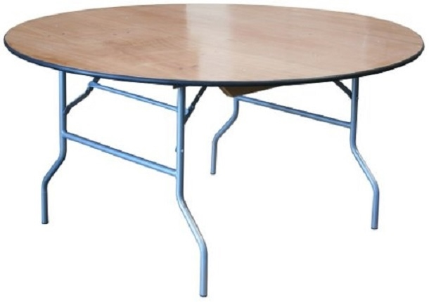 60 round plywood folding table