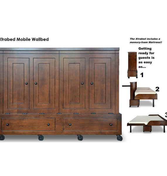 Queen Size Mobile Murphy Bed Ofs Rollaway Beds Shipped