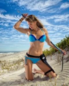 blue bikini foldspear