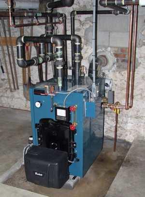 Steam boilers: Italianate farmhouse in Thurmont, Maryland