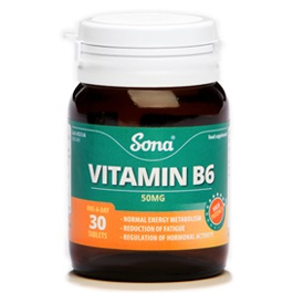 SONA VITAMIN B6 500MG TABLETS (60)