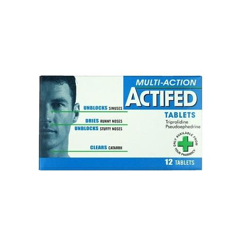 ACTIFED TABLETS 60MG/2.5MG (12)