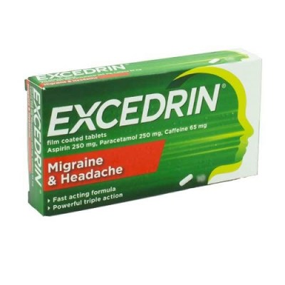 EXCEDRIN MIGRAINE AND HEADACHE TABLETS (20)