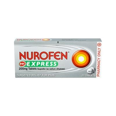 NUROFEN EXPRESS 200MG TABLETS IBUPROFEN (24)