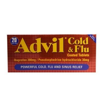 ADVIL COLD & FLU 200MG/30MG TABLETS (20)