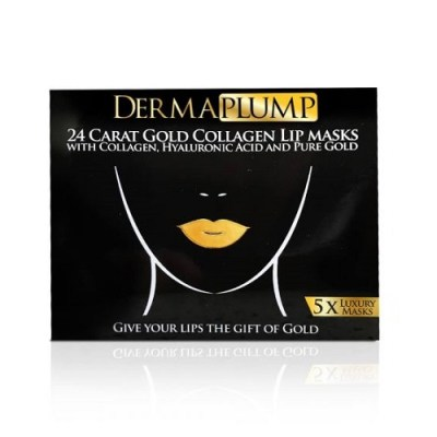 DERMAPLUMP 24 CARAT GOLD COLLAGEN LIP MASKS (5)