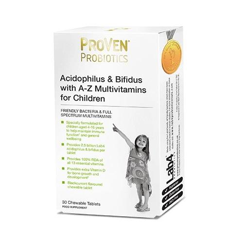PROVEN PROBIOTICS WITH A-Z MULTIVITAMINS FOR CHILDREN (30)
