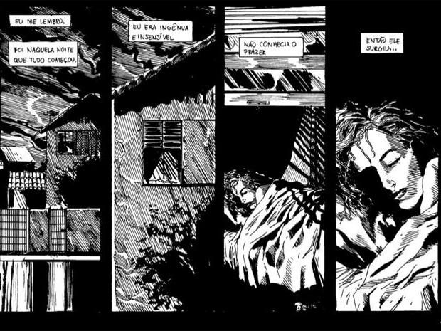 Bicho Papão, escrita e desenhada por Bennett,pode ser incluída no álbum caso o financiamentosupere a meta de R$ 21 mil (Foto: Joe Bennett / Arquivo Pessoal)