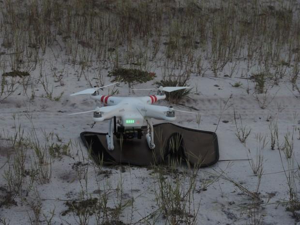 Drone Phantom 2 tem autonomia de voo de 15 minutos e consegue ter campo visual de cerca de 1 km de distância (Foto: Divulgação/WWF)