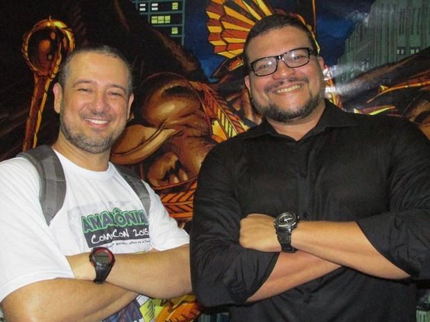 Gian Danton e Joe Bennett (Foto: Joe Bennett / Arquivo Pessoal)