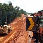 Exército obras BR-163 Pará setembro 2014 (ass) /