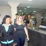 Lidiane Rocha se entregou à PF após 39 dias foragida. Foto: Diego Chaves/OIMP/D.A Press