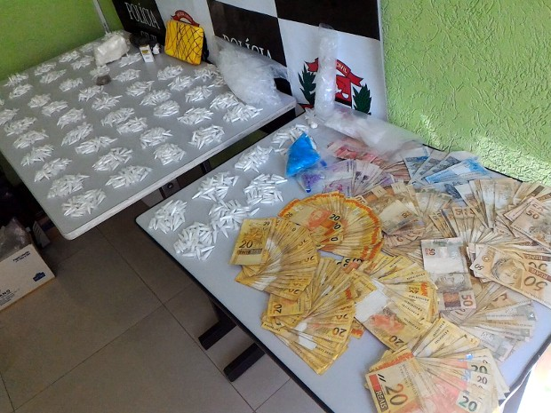 Operação da Polícia Civil prendeu três suspeitos de tráfico em Sorocaba (Foto: Mayco Geretti/TV TEM)