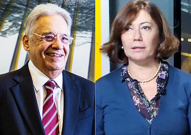 O ex-presidente Fernando Henrique Cardoso e a jornalista Miriam Dutra O ex-presidente