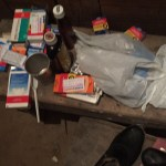 Remédios encontrados na residência.