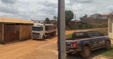 Caminhão com madeira irregular é apreendido (Foto Policia /civil-/divulgação)