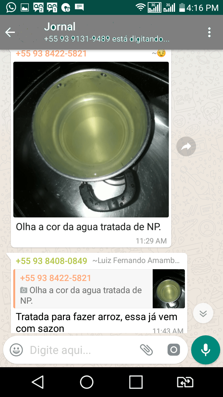 Postagem WhatsApp (Foto WhatsApp JFP)