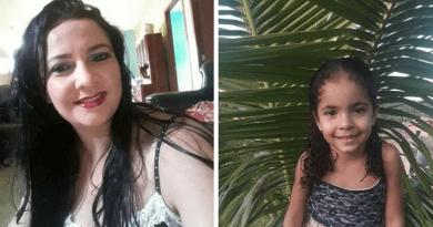 A confirmação da morte de Fernanda e da filha Isabela, de cinco anos, comoveu muitas pessoas em Altamira (Divulgação / Redes Sociais Digitais)