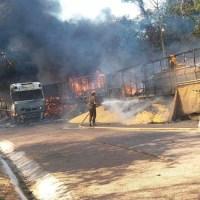 Identificado os motoristas envolvidos  em acidente entre carretas em Moraes Almeida