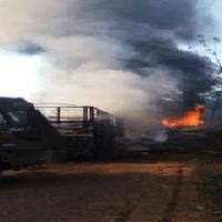 Grave acidente entre caminhão tanque e carreta com milho na serra em Moraes Almeida na rodovia Br 163