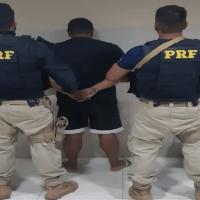 Acusado de duplo homicídio qualificado é preso pela PRF durante fiscalização na BR-163