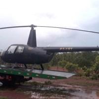 Helicóptero com indícios de adulteração é apreendido pela PM em Mato Grosso