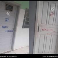Alunos picham suástica nazista em porta de sala de professor em colégio publico de Novo Progresso