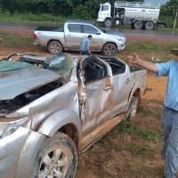 Motorista sobrevive a grave acidente na BR 163 em Novo Progresso