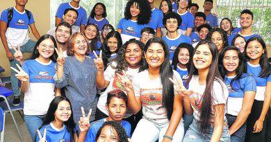 Belém, Pará, Brasil. Cidade. Estudantes da Escola Estadual Albanizia de Oliveira Lima, alcamçam no ENEM a nota 980. 20/01/2020. Foto: Irene Almeida/Diário do Pará.