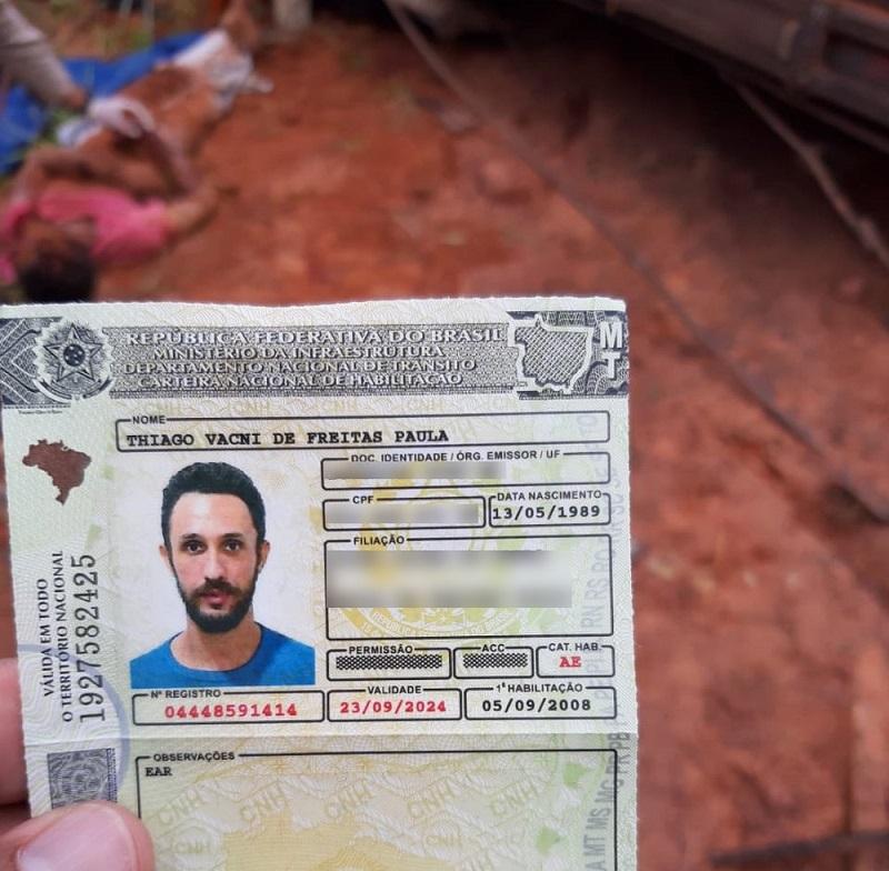 Thiago Vanci Alves de Paula morreu no local do acidente — Foto: Divulgação