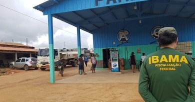 Ibama, PM e Bombeiros interditam dois postos de combustível clandestinos no Pará. — Foto: Reprodução / TV Liberal