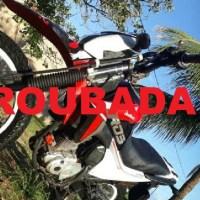 Moto é roubada em frente da casa no bairro Jardim Santarém em Novo Progresso