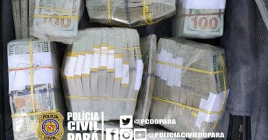 Dolar apreendido em aeronave (Foto:Policia Civil)