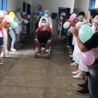 Hospital comemora alta de pacientes recuperados da Covid-19 em Novo Progresso