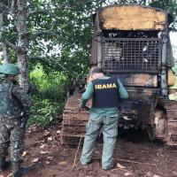 Operação Verde Brasil apreende tratores, motosserra, escavadeira e aplica multa por desmatamento em fazendas no PA