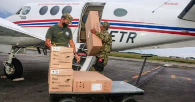 Chegada de respiradores adquiridos da China pelo Pará. — Foto: Agência Pará