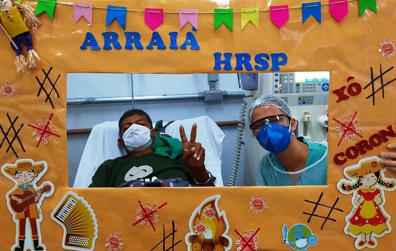 Pacientes do Hospital Regional em Marabá participam da Festa Junina Contra o Coronavirus